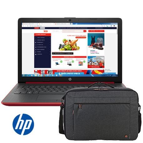 "PC Portable HP - Ecran 15.6"" - 4Go Ram - 500Go + Sac Simple Offert"
