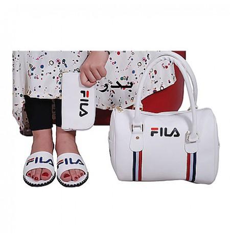 Ensemble Sac à main chaussure te portefeuille FILA - Blanc
