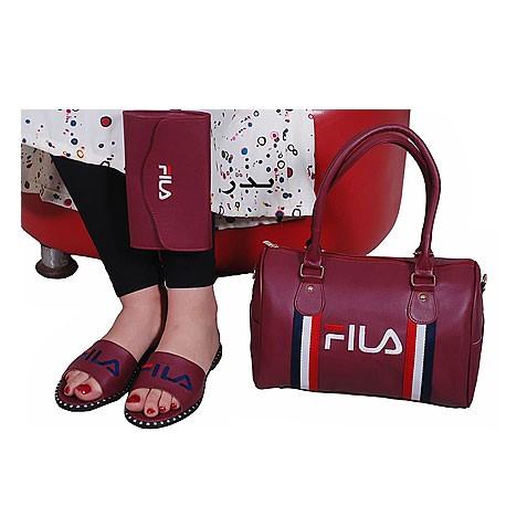 Ensemble Sac à main chaussure te portefeuille FILA - Rouge bordeaux