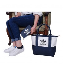 Ensemble Sac à main chaussure te portefeuille Adidas- Bleu marine