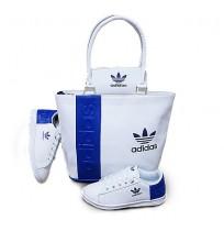 Ensemble Sac à main chaussure te portefeuille Adidas- Bleu blanc