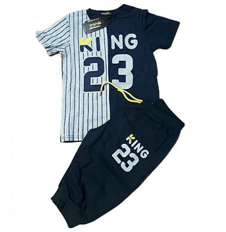 Ensemble de Vêtement - Tee Shirt et Pantalon jogging - Manches Courtes - pour Enfant Garçon