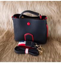 Sac à main noir rouge Tendance* Made in Paris
