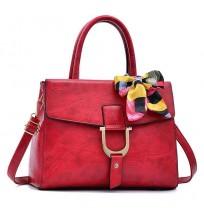 Sacs à main Luxe rouge + foulard Sortie Tendance