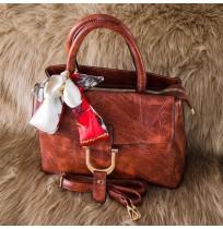 Sacs à main Luxe marron + foulard Sortie Tendance