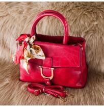 Sacs à main Luxe rose foncé + foulard Sortie Tendance